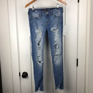 Hollister 5R low rise super skinny jeans